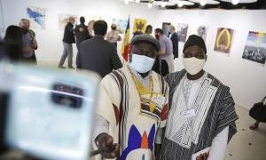 Atrets per la proximitat geogràfica dels seus països, l'Art Camp ja ha convertit en inseparables aquests artistes africans, de Benín i Mali.