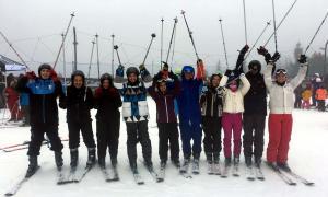 El bateig d'esquí d'ahir, que forma part dels actes pel 75è aniversari de l'estació.