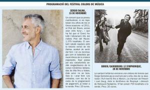 Sergio dalma i Jane Birkin, les dues estrelles de la 34a edició del festival Colors de Música.