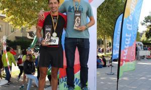 Els dos primers de la categoria masculí sènior: Martí Lázaro i Carlos Fernández.