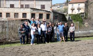 La foto de grup dels nous hortolans amb l'alcalde de la Seu d'Urgell.