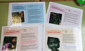 Recursos didàctics que es treballen als tallers de l'Unicef sobre els ODS.