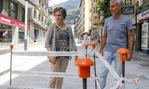 Els consellers del PS+I, Cèlia Vendrell, i de L'A+I, Marc Magallón, ahir a Carlemany.