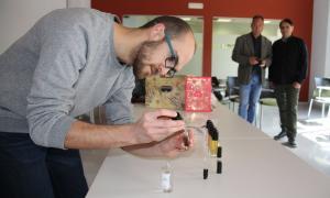 Un dels emprenedors del projecte de creació del perfum de la Seu d'Urgell.