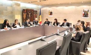 Un moment de la sessió del consell de Comú d'Ordino d'ahir.