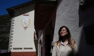La ministra Sílvia Riva, la setmana passada a la terrassa de la seu del departament, a l'hotel Rosaleda d'Encamp.