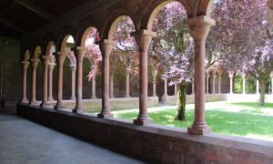 Els capitells del claustre són la història del segle XX.