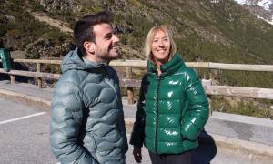 Els candidats territorials de DA a Ordino a l'aparcament de l'estació d'Arcalís, ahir.