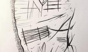La tipologia i la simbologia dels gravats ara localitzats (segons un dibuix de Jordi Casamajor) recorda les incisions fusiformes i naviformes del Roc de les Bruixes, d'unes proporcions molt superiors.