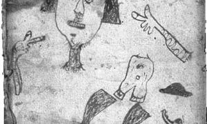 L'escrivà de Corts va il·lustrar amb aquesta truculenta vinyeta la pena de mort per esquarterament a què va ser condemnada Joana Call d'Engordany, 'la Sucarranya', acusada de bruixeria per haver fet homenatge al dimoni i renegat de Nostre Senyor, el juny del 1471.