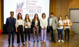 Foto de família dels guanyadors del premi, decidit ahir al Centre de Congressos.