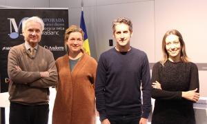 Josep Maria Escribano, Annebeth Webb, Lucas Macías i Mireia Maestre van presentar ahir el concert al Centre de Congressos.
