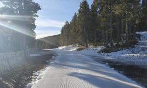 Una imatge de l'estació d'esquí nòrdic de Tuixent-La Vansa.
