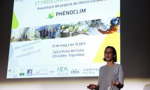 Clara Pladevall en la presentació que va tenir lloc ahir.