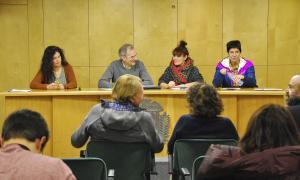Un moment de la reunió per debatre el paper del quart del 16 de gener passat.