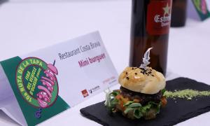 Minihamburguesa, una de les tapes que es van poder degustar a la Ruta.