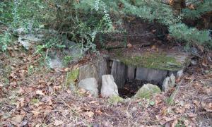 Una de les tres cistes excavades al jaciment de la Feixa del Moro: just en aquesta hi van aparèixer els cossos d'una adolescent i d'un nadó.