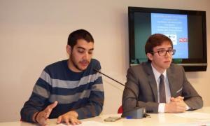 Els consellers del PS Pere Baró i Roger Padreny.