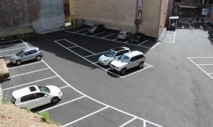 El nou aparcament de l'avinguda de les Escoles.