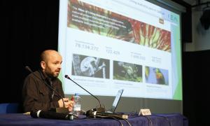 Intervenció de Roger Caritg en les Jornades sobre biodiversitat que se celebren a la Llacuna fins divendres.
