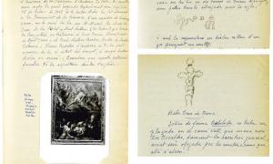 L'inventari de Benet: la mina oblidadaTres de les 149 pàgines de l'inventari de Benet: a l'esquerra, descripció de 'Les ànimes', de Joan Casanovas, obra mestra del barroc nacional que ell va identificar i datar; a dalt, fitxes del gravat en pedra de ca l'Eduardo i de la Creu Grossa de la capital.