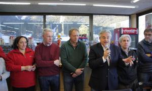 Enric Ticó parla a la 9a Trobada d'Esquiadors a la Molina.