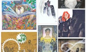 La portada de l'especial de Sant Jordi és una al·legoria de la lectura, obra de Sergi Mas (a dalt, a l'esquerra); segueixen les il·lustracions d'Àstrid Janer per al relat 'Dégueulasse', de Bru Noya; Martín Blanco ('Feina feta no fa destorb', de Xavi Fernández); Sara Valls ('Les bugaderes de la lluna', de Iago Andreu); Xavi Casals ('Membre fantasma', de Txema Díaz-Torrent); Montse Mayol ('Cosins', d'Eva Arasa), i Jordi Casamajor ('Infidel', de Maria Alaminos).