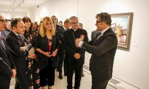 La baronessa Thyssen, en la inauguració de 'Femina, Feminae', l'octubre del 2018 al Valira escaldenc.