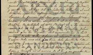 Carta de Bonifacio Ulrich al síndic general, Gil Areny, datada el febrer del 1842.