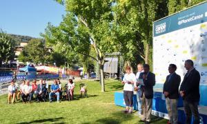 El Parc del Segre, ple durant el descens de Joan Crespo a la final masculina de K1 dels Mundials 2019.