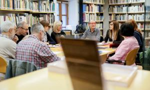 El Consell Assessor, reunit ahir a la Biblioteca Nacional sota la presidència de la ministra.