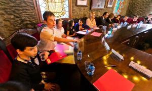 Un moment del Consell d'Infants fet ahir a la Massana.