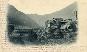 Andorra, postal, Miquel Sánchez Baños, ATV, Toldrà Viazo, Zerkovitz, Labouche, Maravilla, Rossell, Agra, Cuyàs, Claverol, APA, Py-Oliver