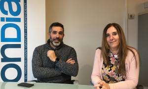 La presidenta del Sitca, Carmen Castillo, i el tresorer, Josep Anton Blanco.