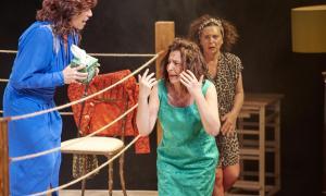 Mercè Canals i les germanes Lis i Carol Caubet són Lluïsa, Conxa i Teresa a 'Garses'.