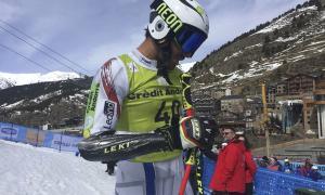 L'esquiador Joan Verdú en una competició anterior.