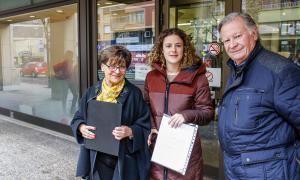 Paquita Mora, a l'esquerra, va presentar ahir a la Batllia el programa d'AS per a la Justícia.