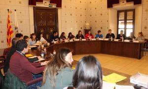 El primer ple del Consell Municipal d'Adolescents, que va tenir lloc ahir.