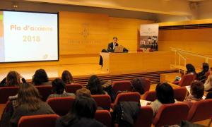 El director de Turisme, Juli Alegre, va presentar ahir el Pla d'Accions 'Ara Lleida' 2018