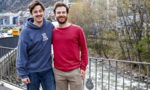 El director d''Entre muntanyes', David Haro, i el productor executiu, Jaume Planella.