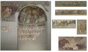 Conjunt mural procedent de Sant Esteve que es conserva al MNAC. Data del segle XII i va ser arrebcat al 1921.
