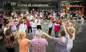 La Festa Aplec de l'any passat, a la plaça del Poble.