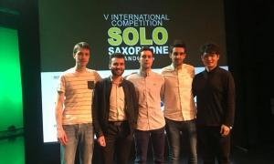 Els cinc finalistes del Sax Fest –Lintanf, Cámara, Reneses, Zaragoza i Nakajima– aquesta tarda Centre de Congressos.