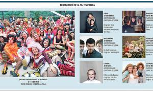 Programació de la 52a Temporada de teatre conjunta, que entre el 22 de febrer i el 17 de maig portarà sis muntatges (més el Festival de Pallasses) a Sant Julià i la capital.