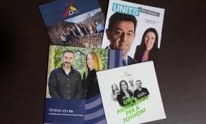 Els programes de les quatre opcions que concorren a Ordino.