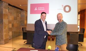 La presentació amb representants del Comú i d'Andorra Telecom.