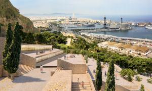 El projecte 'Montjuïc Geological Museum' construeix la tanca del cementiri i possibilita els recorreguts pel parc de Montjuïc.