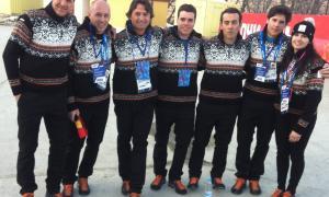 La delegació andorrana als Jocs de Sochi 2014.