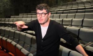 L'actor català Ernest Villegas, en la compareixença prèvia a Mala broma, ahir al Claror.