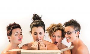 Vero Pérez, Judith Villaró, Anna Frases i Mònica Vega són Sus, Laura, Xènia i Gali a 'Quin/a cony/a', estrenat al novembre al Comunal.